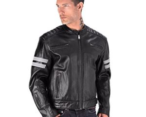 f39b36314ea Viking Cycle Bloodaxe Premium Grade Cowhide Leather Motorcycle Jacket for  Men