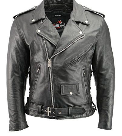 5a6ed0854 Men's Leather Motorcycle Jacket with CE Certified Armor | Premium ...